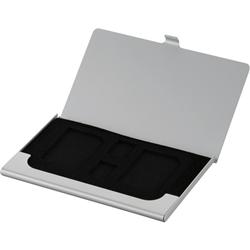 【クリックで詳細表示】SD・microSDカードケース(丈夫なアルミ素材) シルバー MCC-1000SL