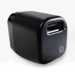 【クリックで詳細表示】TRAVEL CANDY USB充電器 カフェブラック 【海外対応AC100-240V 1A】 DAC-U1A10BK