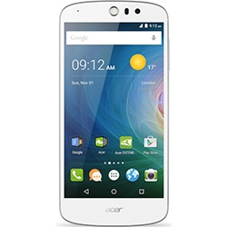 Liquid Z530 (Android5.1 Lollipop/MT6735 Quad-core 1.3GHz/2GB������/16GB/5�C���`/SIM�t���[LTE/�z���C�g) Z530W-F01