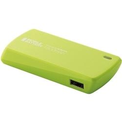 【クリックで詳細表示】スマートフォン用モバイルバッテリー/USB Micro-Bメス-USB Aメス/1800mAh/グリーン DE-U01L-1810GN