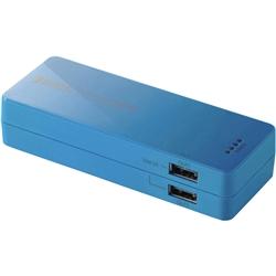 【クリックで詳細表示】スマートフォン用2ポート搭載モバイルバッテリー/5200mAh/ブルー DE-M01L-1920BU