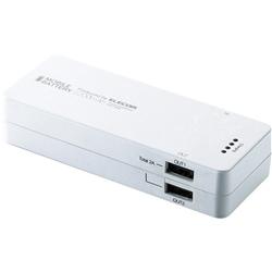 【クリックで詳細表示】スマートフォン用2ポート搭載モバイルバッテリー/5200mAh/ホワイト DE-M01L-1920WH