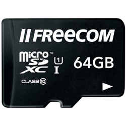 FREECOM Micro SDXC 64GB with Adaptor bulk JP 37188