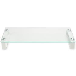 【クリックで詳細表示】ディスプレイ台 強化ガラス メタル支柱モデル GH-DKBC-CL