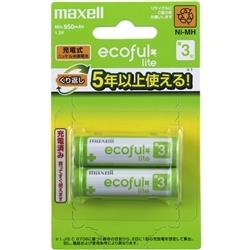 【クリックでお店のこの商品のページへ】充電式ニッケル水素電池 [ecoful lite] 単3形 ブリスターパック 2本入 MHR-3LAY.2B