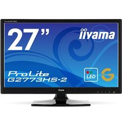 【クリックでお店のこの商品のページへ】iiyama 【台数限定】144Hzリフレッシュレート入力対応 27型ゲーミングワイド液晶ディスプレイ ProLite G2773HS-2(LED、144Hz) PLG2773HS-GB2