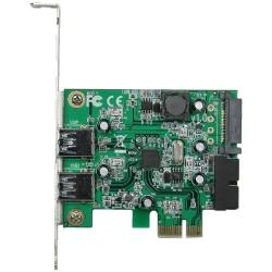 PCI-Express�ڑ� USB3.0�O��2�|�[�g���݃J�[�h LowProfile�Ή� USB3.0RA-P2H2-PCIE