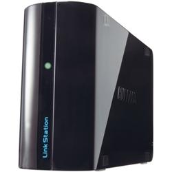 【クリックでお店のこの商品のページへ】リンクステーション ミニ 省エネ・静音・小型 ネットワーク対応HDD 1TB ブラック LS-WSX1.0L/R1J
