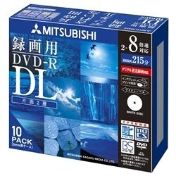 DVD-R 8.5GB �r�f�I�^��p DL�K�i����8�{���L�^�Ή�10���X�����P�[�X��IJ�v�����^�Ή� VHR21HDSP10