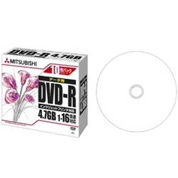 DVD-R 4.7GB PC�f�[�^�p 1-16�{�� 1��5mm�P�[�X(����)10P IJ�Ή�(�z���C�g) DHR47JPP10