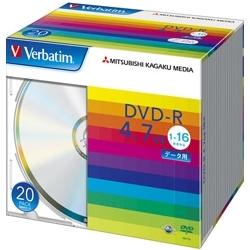DVD-R 4.7GB PCデータ用 16倍速対応 20枚スリムケース入り シルバーディスク DHR47J20V1