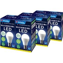 【クリックで詳細表示】LED電球 昼白色 E17口金 400lm(5.0W) 明るさ3段階切り替えタイプ 6本 LDA5N-H-E17/3SC6