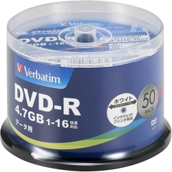 DVD-R(Data) 1回記録用 4.7GB 1-16倍速 50枚スピンドルケース50P IJP対応 DHR47JP50V4