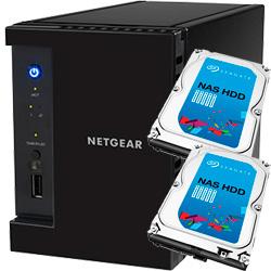 ReadyNAS 102  2ベイ 2TB x 2台【Seagate NAS 専用HDD (ST2000VN000) 搭載モデル】 RN10200-4TB02-ST