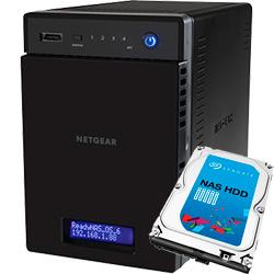 ReadyNAS 104  4�x�C 2TB x 1��ySeagate NAS ��pHDD (ST2000VN000) ���ڃ��f���z RN10400-2TB01-ST