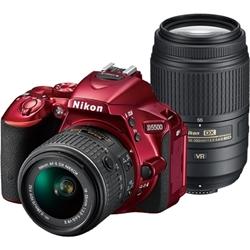 デジタル一眼レフカメラ D5500 ダブルズームキット レッド D5500WZRD