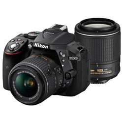 デジタル一眼レフカメラ D5300 ダブルズームキット2 ブラック D5300WZBK2
