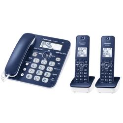 コードレス電話機(子機2台付き)(ネイビーブルー) VE-GD35DW-A