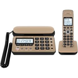 デジタルコードレス留守番電話機 子機1台タイプ キャラメルブラック TF-SD10S-TK