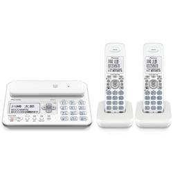 デジタルフルコードレス留守番電話機 子機2台タイプ ホワイト TF-FA70T-W