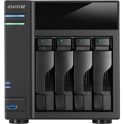 ASUSTOR�@NAS�P�[�X Intel Celeron CPU �f���A���R�A 1GB������ 4�x�C���f���@AS5004T