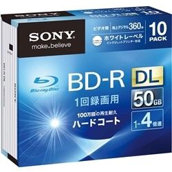 【クリックで詳細表示】ビデオ用BD-R 追記型 片面2層50GB 4倍速 ホワイトプリンタブル 10枚パック 10BNR2VGPS4