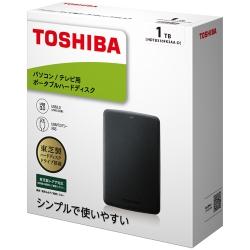 ポータブルハードディスク 1TB ブラック HDTB310FK3AA-D