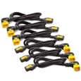 Power Cord Kit (6 ea) Locking C13 to C14 (90 Degree) 0.6m