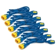 Power Cord Kit (6 ea) Locking C13 to C14 0.6m Blue