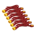 Power Cord Kit (6 ea) Locking C13 to C14 0.6m Red