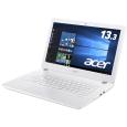 Aspire V 13 V3-372-N34D/W (Core i3-6100U/4GB/500GB/ドライブなし/13.3/Windows10 Home(64bit)/APなし/プラチナホワイト)