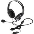 USBヘッドセット/両耳オーバーヘッド/クッションイヤーパッド/1.8m/シルバー