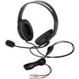 エレコム ヘッドセット/両耳オーバーヘッド/クッションイヤーパッド/1.8m/ブラック HS-HP24BK