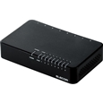 エレコム 10/100Mbps対応スイッチングHub/8ポート/プラスチック筐体/電源外付モデル/ブラック EHC-F08PA-B