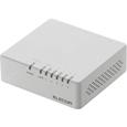 エレコム 10/100Mbps対応スイッチングHub/5ポート/プラスチック筐体/磁石付/電源外付/ホワイト EHC-F05PA-JW