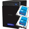 NETGEAR Inc. ReadyNAS 104  4ベイ 2TB x 2台【Seagate NAS 専用HDD (ST2000VN000) 搭載モデル】 RN10400-4TB02-ST