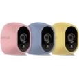 Arlo スマートホーム ワイヤレスネットワーク セキュリティカメラ(屋外設置可能)用マルチカラーシリコンスキン(パステルカラー)