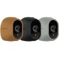 Arlo スマートホーム ワイヤレスネットワーク セキュリティカメラ(屋外設置可能)用マルチカラーシリコンスキン(ブラウン・ブラック・グレー)
