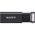 SONY USB3.0対応 ノックスライド式USBメモリー ポケットビット 128GB ブラック キャップレス USM128GU B