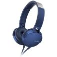 ステレオヘッドホン ブルーMDR-XB550AP/L(SONY)