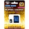 SUPERTALENT UHS-I microSDXCメモリーカード 64GB Class10 SDXC変換アダプタ付 ST64MSU1P