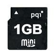 PQIオリジナル miniSDカード 1GB 永久保証 7MB/sec アダプター付き QMSD-1G
